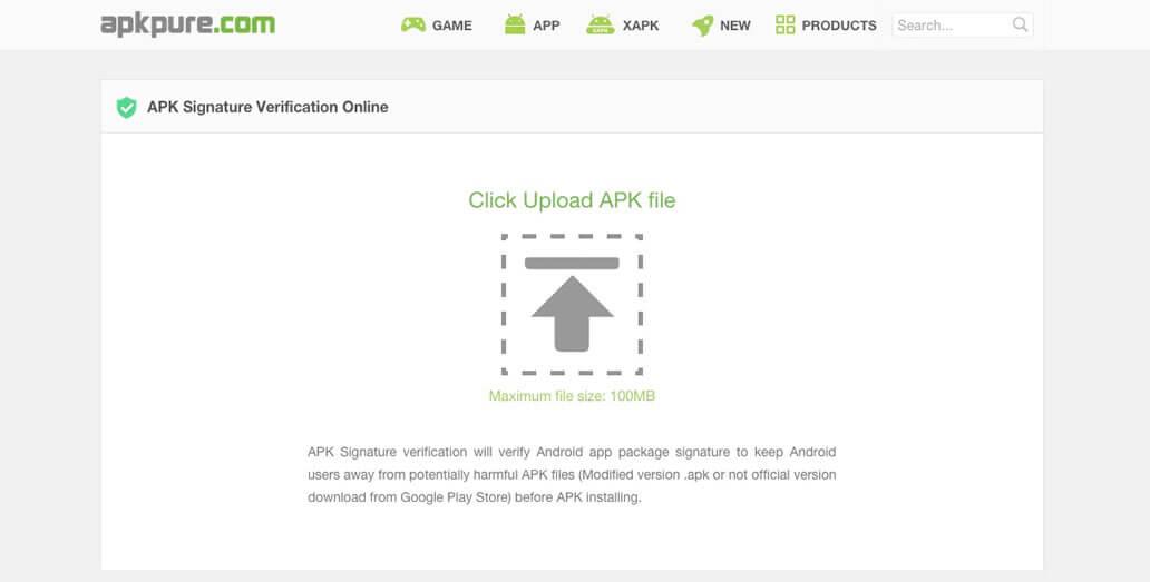 APK Signature Verification, Official Version APK Detection Service
